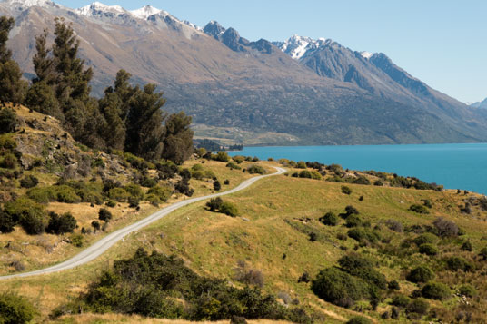 Around the Mountains Cycle Trail am Lake Wakatipu